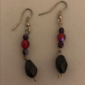 Jewelry - Red and black dangle earrings